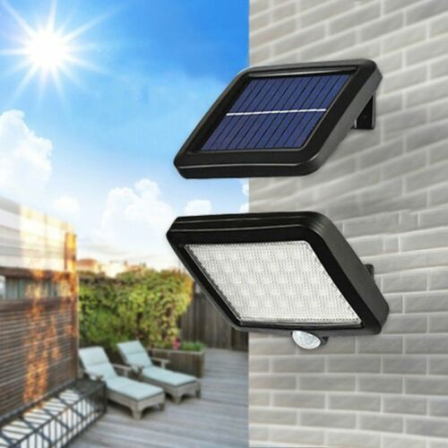 Solar Powered PIR Motion Sensor Walkway Garden Light 56 LED Security Flood Lamp