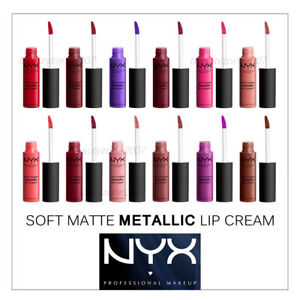 Nyx Soft Matte Metallic Lip Cream Choose Any 1 Color Smmlc Ebay