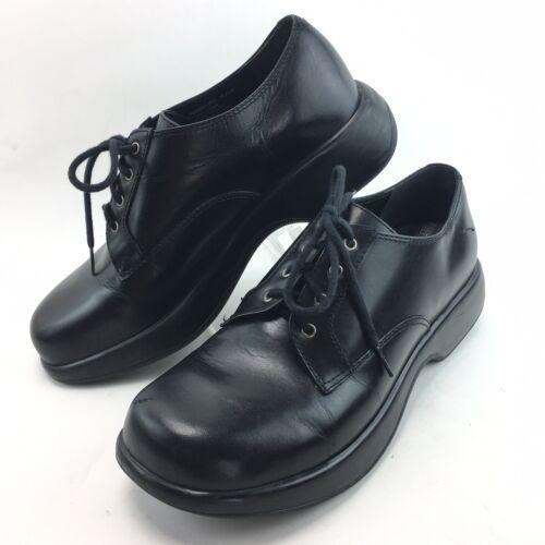 Dansko Black Leather Lace Oxfords Shoes Womens 42