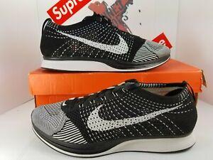 NDS-Nike-Flyknit-Racer-authenic-sz-11-5-526628-002-Black-White-ORCA-kayne-rare