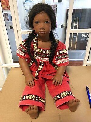 Top Zustand Sehr Selten. Bright Annette Himstedt Puppe Panchita 67 Cm