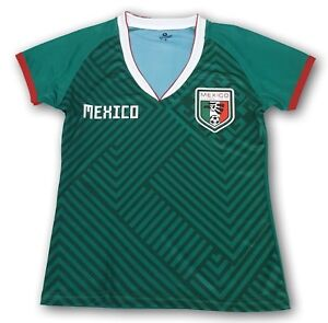 7139ae2e3 Mexico Women s Home Soccer Jersey Regular Fit 100% Polyester Mudial ...