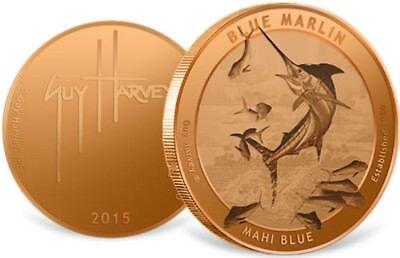 1 Onza De Cobre 999-blue Marlin Pescado/pescar-kupferbarren-medalla-rar Agradable Al Gusto
