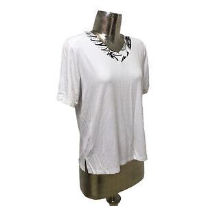 Casamia Top T-Shirt White UK S/M 10-12 (EU40) NEW Women's RRP £40