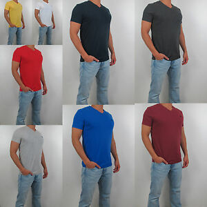 New-Abercrombie-amp-Fitch-A-amp-F-Men-V-Neck-Tee-T-Shirt-Hollister-All-Size-Color-NWT