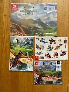 Monster Hunter Stories 2 Wings of Ruin poster notebook microfibre cloth stickers