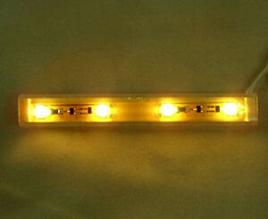 12 Volt Dollhouse Lighting NovaLyte LED Warm White Strip Light 4 LED Miniatures