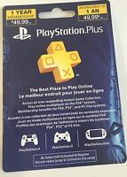 Sony PlayStation Plus 1 Year (12 months)  Membership Subscription Card - NEW!