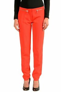 Donna Xl Versace Rosso M Tg Pantaloni Collection Casual F6UqR0