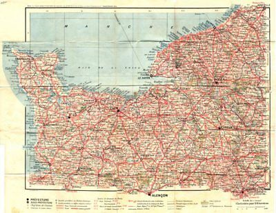 Manche Maps, Atlases & Globes Manche 1921 Old Vintage Map Plan Chart To Assure Years Of Trouble-Free Service