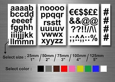Lot autocollant sticker alphabet lettres majuscule plusieurs taille et couleur