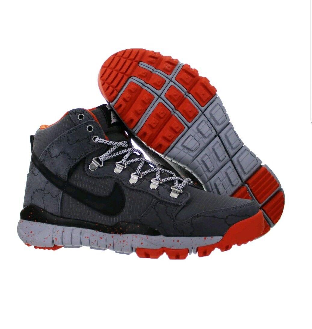 Mens Nike Dunk High R R Dark Grey Black Wolf Grey University orange Size 9