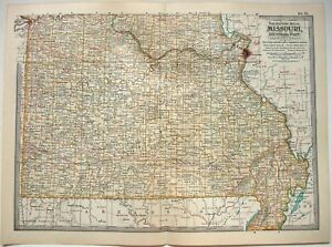 Details about Original 1902 Map of Southern Missouri by The Century Company