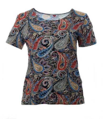 Hertz Karin Große T Auch Mit shirt Bunt Paisley Größen muster Damen TqfdUq