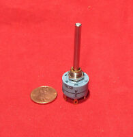 Elma Rotary Switch 2 Poles 3 Position 01-1231 Long Shaft High Quality Swiss Made