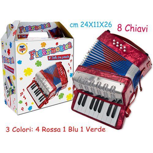 FISARMONICA 8 TASTI CON PIANOLA 40197
