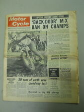 Motor Cycle Newspaper, Nov 27, 1968, 'Back-Door' M-X Ban on Champs.   MCNP 68