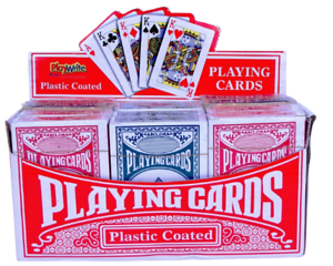 Classic Travel Pocket Playing Cards Blue Red Boxed Pack Poker Playing Deck Game