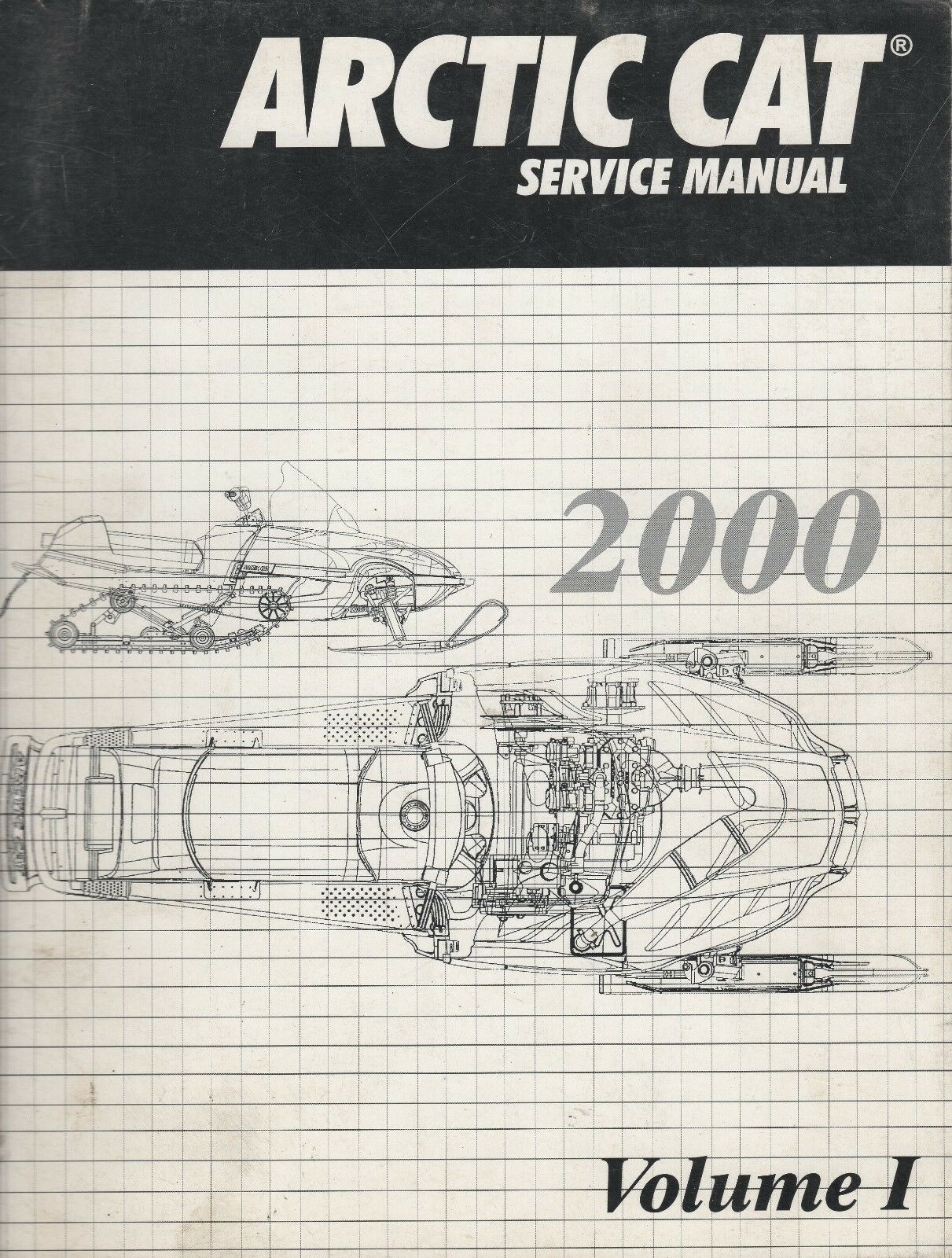 2000 ARCTIC CAT SNOWMOBILE VOLUME I SERVICE MANUAL P/N 2256-248 (211