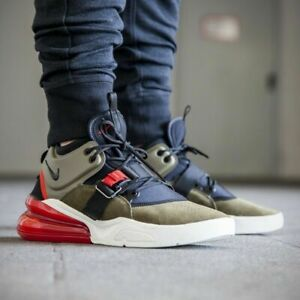 f25102cf2 NIKE AIR FORCE 270 AH6772 200 MEDIUM OLIVE GREEN/BLACK/CHALLENGE RED ...