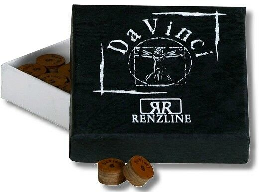 Billiards Leather Cue Tip da Vinci Medium 12 Mm