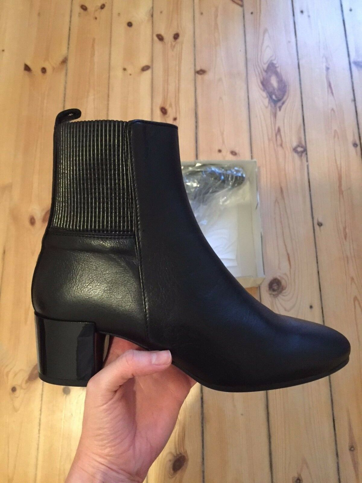 Beautiful TOPSHOP di leather ankle boots NEW! Stivali di TOPSHOP pelle Stivaletti Chelsea a151af