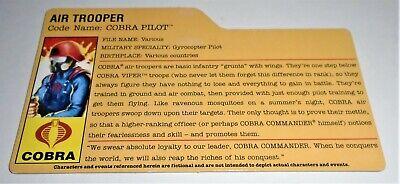 G I JOE File Card FileCard UNCUT      2008 Cobra Para-Viper
