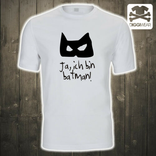 JA ICH BIN BATMAN !SUPERHELDGOTHAM FUN SHIRT S-5XL