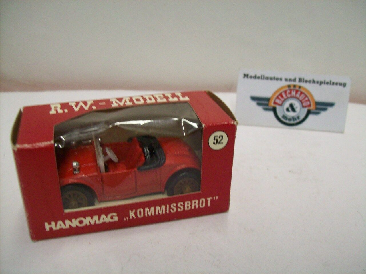 Hanomag  Record BREAD  Roadster, 1924, Red Grey, RW Model (W. GERMANY) 1 43