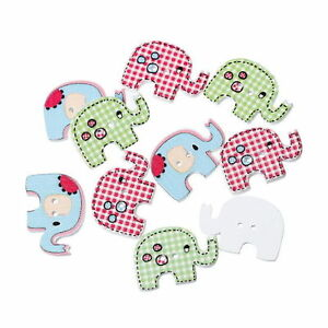 30PCs-Wood-Buttons-Elephant-2-Holes-Mixed-29mm-x20mm-Jewelry-making-XC0263