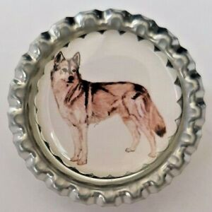 German Shepherd Dog Keyring by Curiosity Crafts