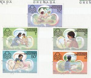 GRENADINEN-VON-GRENADA-1976-50-Jahre-Pfadfinderinnen-auf-Grenada-kpl-gestempelt