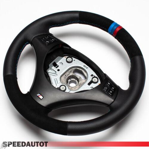 Troc ALCANTARA Volant BMW M-Power e90 e91 Neuf Cuir Panneau multfu Noir
