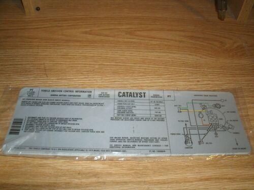 1979 PONTIAC FIREBIRD TRANS-AM FORMULA 301 4.9L ENGINE EMISSIONS DECAL MANUAL TR