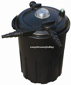 4000 gallon pressurized 24 watts uv bio koi fish pond for Easy pond filter