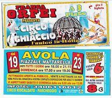 BIGLIETTO  SCONTO - CIRCO SU GHIACCIO - FRANCA ORFEI