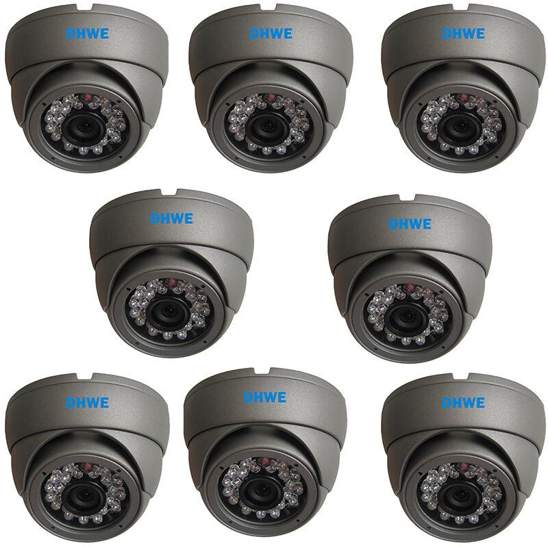 8 X CCTV Cúpula Cámara Cmos 960H 800TVL Alto Resolución 20m Infrarrojo
