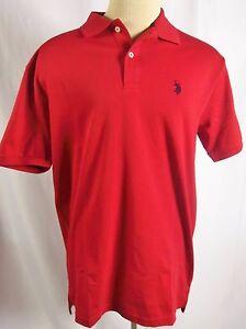 U-S-Polo-Assn-Mens-Luxury-Feel-Polo-Golf-Shirt-Red-or-Navy-Blue-NWT-Cotton