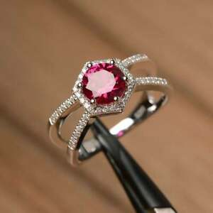 925-Sterling-Silver-Natural-Certified-5-Ct-Ruby-Handmade-Engagement-Ring-For-Her