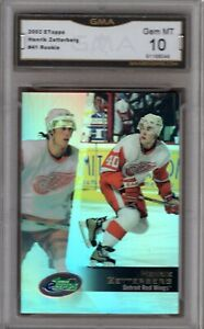 GMA-10-Gem-Mint-HENRIK-ZETTERBERG-2002-03-TOPPS-eTOPPS-ROOKIE-Card-RED-WINGS