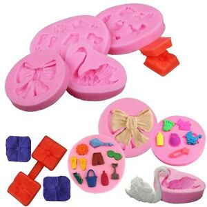 Silicone Fondant Mould Cake Decorating Chocolate Baking ...