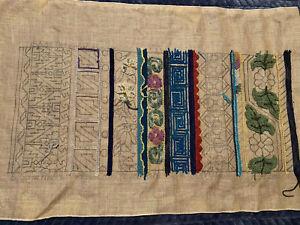 Primitive-Rug-Hooking-Pattern-039-Oriental-Borders-039-by-Jane-McGown-Flynn