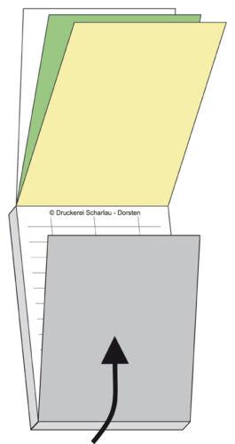 fach 22203 DIN A4  -SD 3 5 Blocks Auftrag  // Auftragsblocks intern