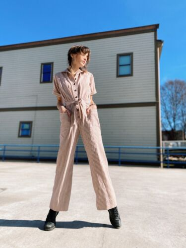 Levi's Vtg Pinstriped Jumpsuit Coveralls Workwear
