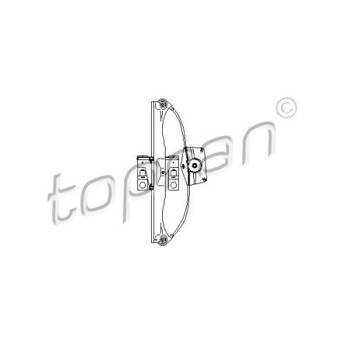 Topran lève vitre gauche arrière Audi 3066031