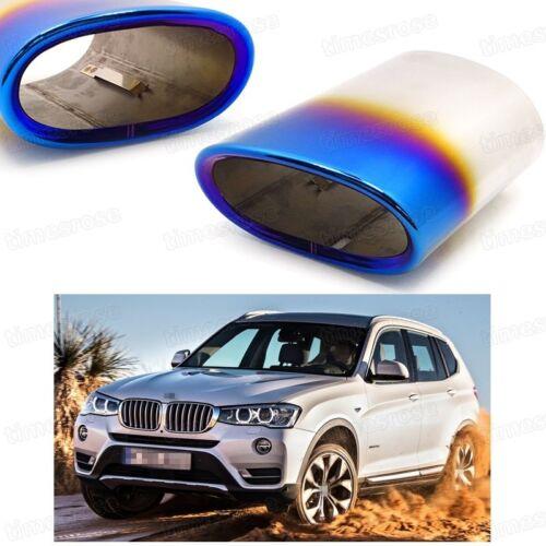 1Pcs Car Exhaust Muffler Tip Tail Pipe End Trim Blue for BMW X3 2011-2017 #4078
