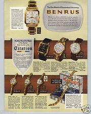 1959 PAPER AD 4 PG Benrus Wrist Watch Citation Clifford Monarch Golden Regent
