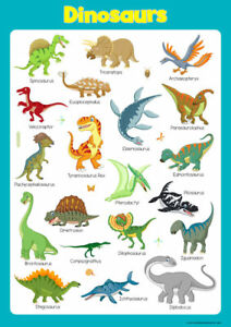 DINOSAURS A3 GLOSSY POSTER 1