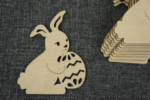 10 Stk. Hase Osterndeko Ostern Bunny Dekorieren Basteln Malen Motiv  /W86/