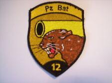 Schweizer Armee  Pz Bat 12  in schwarz  ca 9 x7 cm